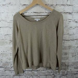 James Perse Soft Vintage Fleece Sweatshirt Pullove
